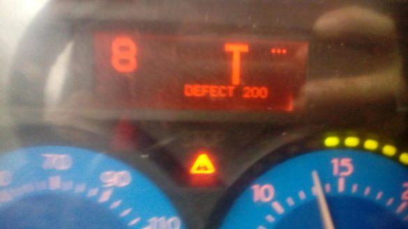 Код Defect-200 на грузовике Рено